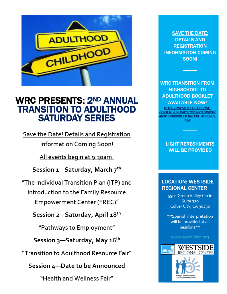 This is a flyer (in English) for the annual transition fair.